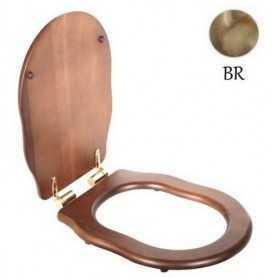 Сидение Belbagno Boheme орех (петли бронза) микролифт