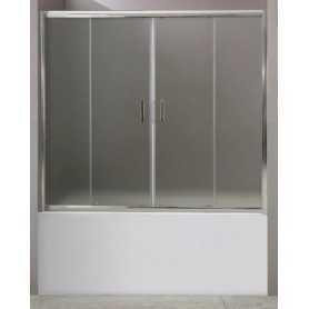 Шторка на ванну Belbagno Uno 150 см. стекло матовое