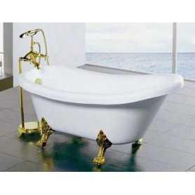 Акриловая ванна BelBagno Gemy G9030A 175x82 ножки золото