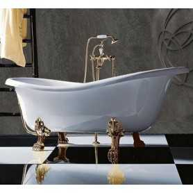 Акриловая ванна Tiffany World TW176 176x80 ножки золото