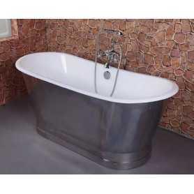Чугунная ванна Sharking SW-1002A 170x68 (панель глянцевый хром)