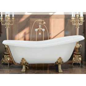 "Акриловая ванна Migliore Bella 170x81 на лапах бронза ""Leone"""