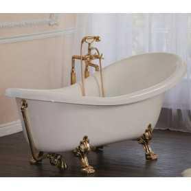 """Акриловая ванна Migliore Bella 170x81 на лапах золото """"Leone"""""""