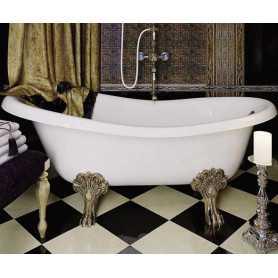 Акриловая ванна Migliore Bella 170x81 на лапах бронза