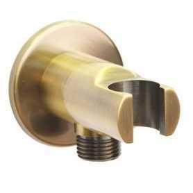 Фото Шланговое подсоединение с держателем лейки Magliezza 50307-br цвет бронза