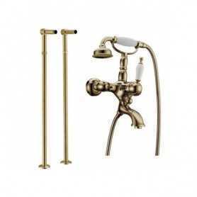 Фото Смеситель для ванны напольный Boheme Medici Ripresa 303 / 601 цвет бронза