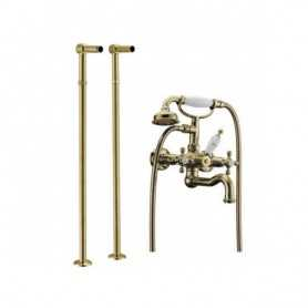 Фото Смеситель для ванны напольный Boheme Medici Presente 313 / 601 цвет бронза