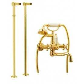 Фото Смеситель для ванны напольный Boheme Tradizionale Oro 293 / 602 цвет золото