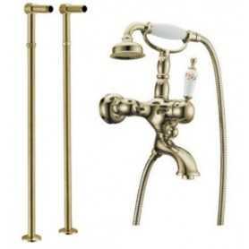 Фото Смеситель для ванны напольный Boheme Provanse Ripresa 363 / 601 цвет бронза