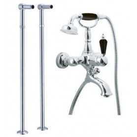 Фото Смеситель для ванны напольный Boheme Tradizionale Nero 243 / 603 цвет хром