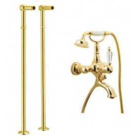 Фото Смеситель для ванны напольный Boheme Imperiale Ripresa 323 / 602 цвет золото