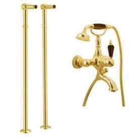 Фото Смеситель для ванны напольный Boheme Tradizionale Nero 253 / 602 цвет золото