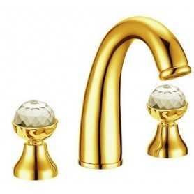 Фото Смеситель для раковины Boheme Imperiale Presente 337 цвет золото