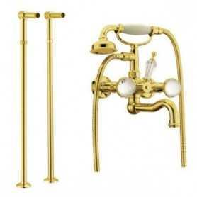 Фото Смеситель для ванны напольный Boheme Imperiale Presente 333/602 цвет золото