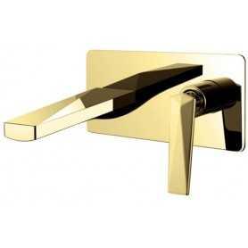 Фото Смеситель для раковины из стены Boheme Venturo 385 цвет золото