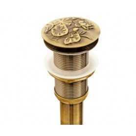 Донный клапан Bronze de Luxe Лотос 21976 цвет бронза с переливом