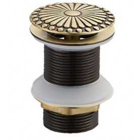 Донный клапан Bronze de Luxe Цветок 21965 цвет бронза без перелива
