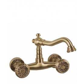Смеситель для раковины настенный Bronze de Luxe Royal 10116 цвет бронза