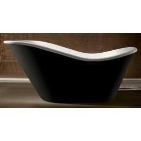 Ванна отдельностоящая чёрная Gemy G9231B акриловая 170х80