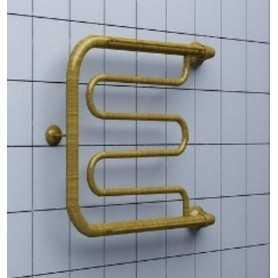 Полотенцесушитель водяной Ника Econ ПМ-1 50х50 цвет бронза