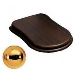 Сидение Cezares Laredo цвет орех, микролифт - петли золото