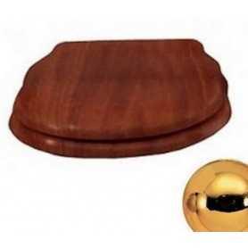 Сидение Cezares Royal Palace цвет орех, микролифт - петли золото
