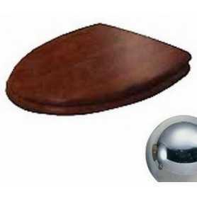 Сидение Cezares Primo цвет орех, микролифт - петли хром
