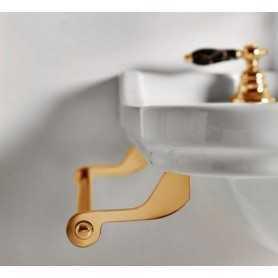 Фото Полотенцедержатель боковой для раковин Kerasan Waldorf 7408 цвет золото