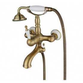 Фото Смеситель для ванны Aksy Bagno Faenza 401-br цвет бронза