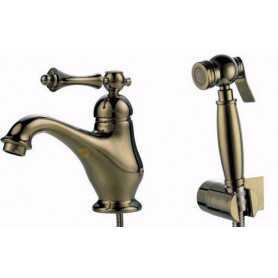 Фото Смеситель для раковины с гигиенической душем Ganzer Silestis 77051-br цвет