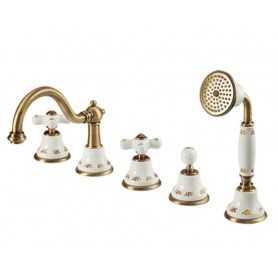 Фото Смеситель на борт ванны Migliore Provance 8880-br цвет бронза