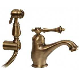 Фото Смеситель для раковины с гигиенической душем Migliore Bomond 9714-br бронза