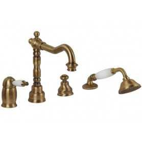 Фото Смеситель на борт ванны Migliore Oxford 6355-br цвет бронза