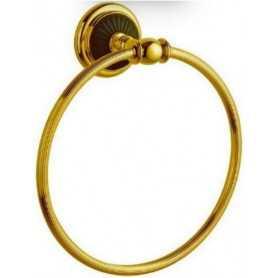 Фото Полотенцедержатель кольцо Bogeme Palazzo Nero 10155 золото/чёрный