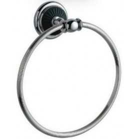Фото Полотенцедержатель кольцо Bogeme Vogue Nero 10185 цвет хром/чёрный