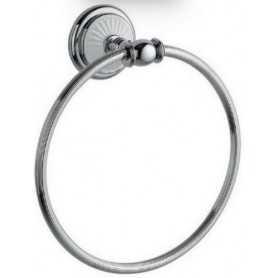 Фото Полотенцедержатель кольцо Bogeme Vogue Bianco 10135 цвет хром/белый