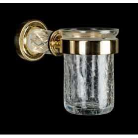 Фото Стакан Boheme Murano Crystal 10904-CRST-G золото santekhnika-kupit.ru