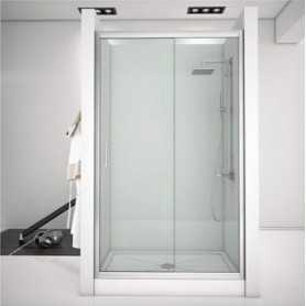 Фото Душевая дверь 150 Aquanet Alfa NAA6121 прозрачное стекло santekhnika-kupit.ru