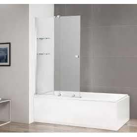 Шторка на ванну Cezares Stream-VFS-11 90 см. стекло прозрачное