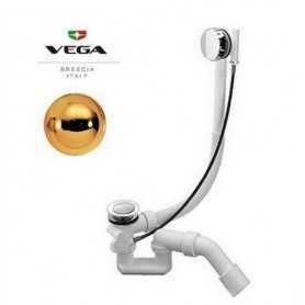 Слив удлинённый для ванны Vega цвет золото 100 см