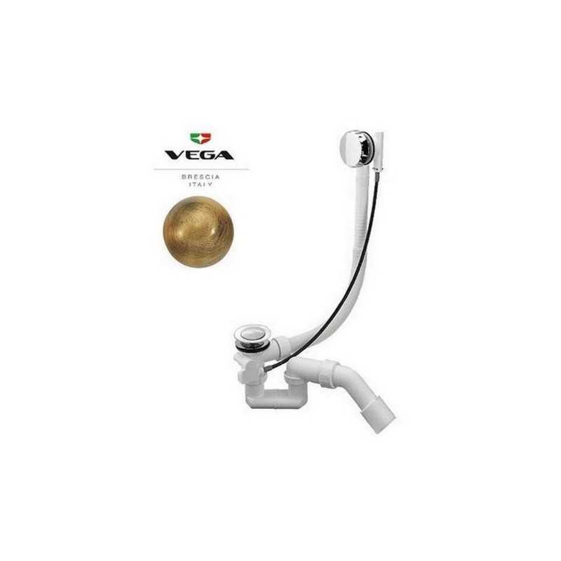 Слив удлинённый для ванны Vega цвет бронза 100 см
