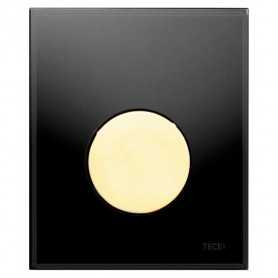 Кнопка смыва TECE Loop 9242658 черное стекло, кнопка золото