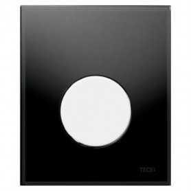 Кнопка смыва TECE Loop 9242654 черное стекло, кнопка белая