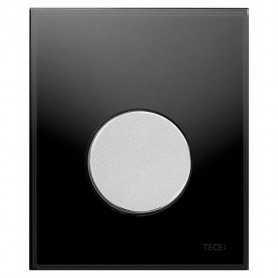 Кнопка смыва TECE Loop 9242655 черное стекло, кнопка хром