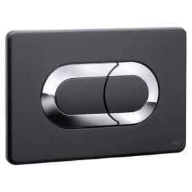 Кнопка смыва OLI Salina 640097 черный-хром
