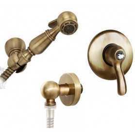 Гигиенический душ скрытого монтажа Migliore Lem цвет бронза