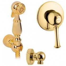 Гигиенический душ скрытого монтажа Migliore Dallas цвет золото