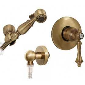 Гигиенический душ скрытого монтажа Migliore Bomond цвет бронза