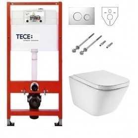 Инсталляция Tece с унитазом Roca Gap Clean Rim 34647L000