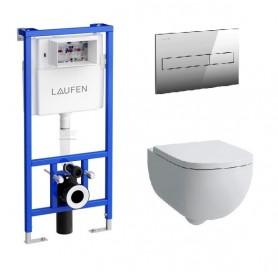 Инсталляция Laufen с унитазом Laufen Palomba 8.2080.1.000.000.1